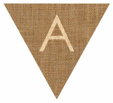 Hessian sack textured bunting free printables free bunting templates letter a alphabet hessian flag bunting printable spiritdancerdesigns Images